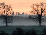 The  Repentance  Tower  in  a  misty  dawn.