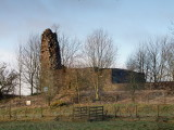 Lochwood  tower , extant  remains.