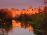 Warwick  Castle , at  the  crack  of  dawn.