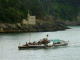 Kingswear  Castle , with the paddle  steamer Kingswear  Castle  passing.