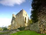 Knaresborough  Castle  ruins, above  the  gorge.