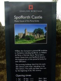 Spofforth  Castle  Informatiion  Board.