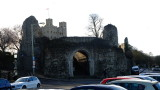 Rochester  Castle  walls  and  keep.