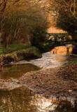 Evening  at  the  footbridge .