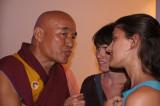 Thubten Wangchen & two fans