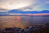 Sunset over Goose Island, R. I.