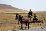 farmer & son near Kars