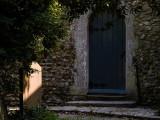 Church Door and Gravestone