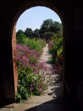 Through the arched door