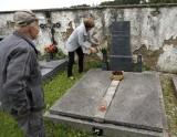 ...where she tends to the Polívka family grave