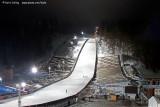 Vorbereitung auf das Weltcup-Skispringen auf der Mühlenkopfschanze
