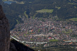 Blick vom Karwendel auf Mittenwald
