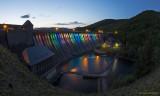 Edertalsperre mit Überlauf   -   Overflow at the Eder Dam