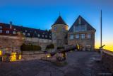 Goldenes Licht auf Schloss Waldeck