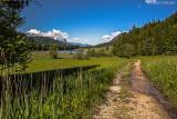 Am Geroldsee, Blick Richtung Zugspitze