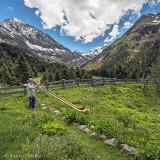 Alpenidylle mit Alphörnern
