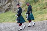 Auf dem Weg zur Wachablösung am Edinburgh Castle