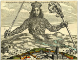 Figure 2.  Engraved title-page of Hobbes's Leviathan (1651) by Abraham Bosse.   Copyright:  The Trustees of the British Museum