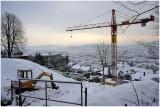Construction sous la neige