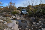 Jeep about to cross Wood Canyon Creek - Tonto National Forest