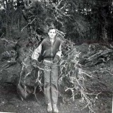 1961 Johnny by tree roots