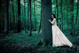 Lady in white in the Lostlorn Forest - With Andreea
