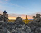 Badlands sunset from 14 mile rock