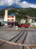 Rigi-Bahn depot with turntable