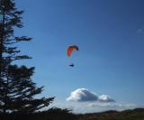 Para-glider at Mount Rigi