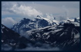 Snow covered peaks seen from Stanserhorn