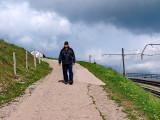 A tourist on Mount Rigi