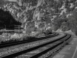 Late afternoon tracks into Glenwood Canyon