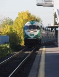 GO Train in Burlington