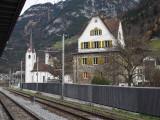 At the railway station in Flüelen