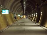 Evacuation tunnel at multipurpose station Sedrun
