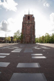 De Oldehove is an unfinished church tower in the medieval centre of the Dutch city of Leeuwarden. It leans more than the tower of Pisa in Italy.