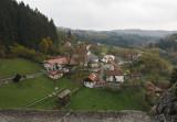 view from Predjama Grad