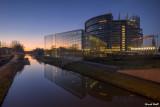 Le Parlement Européen au lever du jour