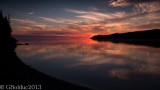 Coucher de soleil dan la baie des haha_Sunset in the baie des haha