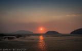 Coucher de soleil dans la fumée_Sunset in smoke