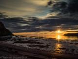 Coucher de soleil a marée basse_Sunset at low tide