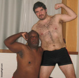 black daddy bear and his hairy buddy.jpg