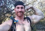 hunky shirtless guy hiking.jpg