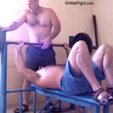 benchpressing home garage workout.jpg