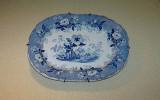 Antique blue serving plate