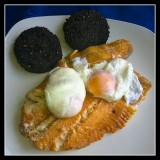 The Perfect Scottish Breakfast ? - Smoked Haddock, Poached Eggs and Stornaway Black Pudding !!