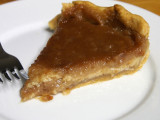 cinnamon pie on a snowy day