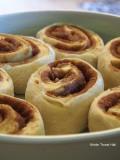 cinnamon buns ready to bake