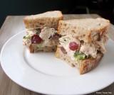 chicken salad on homemade bread