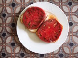 tomato sandwich with cherokee purple